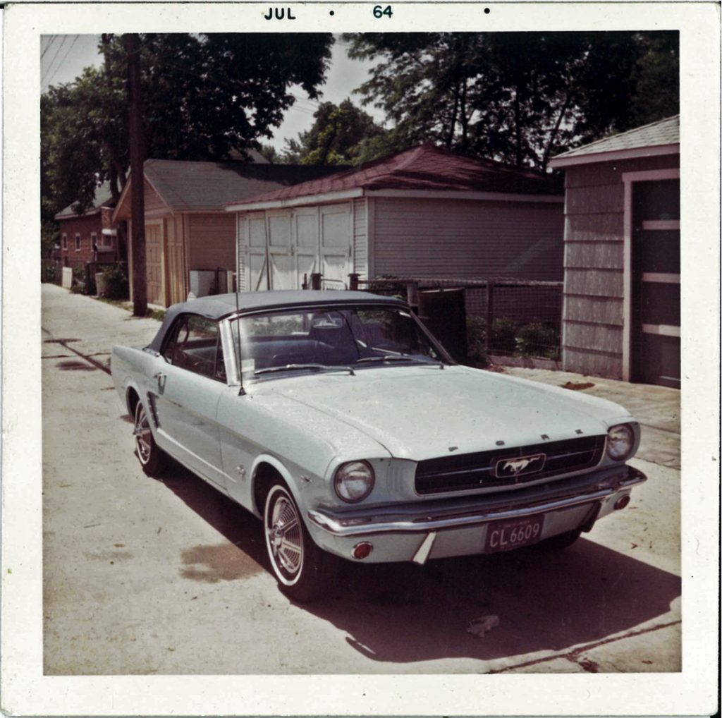 Gail Wise's 1965 Ford Mustang Convertible in summer 1964