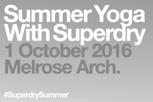 SUPERDRY WELCOMES SUMMER WITH YOGA