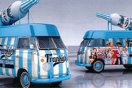 FRANKIES NEW RETRO VAN HITS GP STREETS