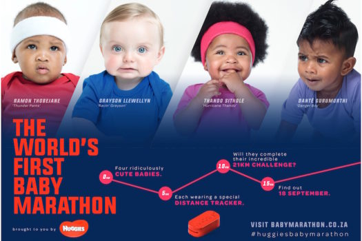 HUGGIES BRINGS US THE WORLD'S FIRST BABY MARATHON