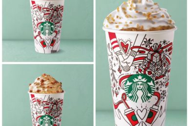 IT'S BEGINNING TO LOOK ALOT LIKE CHRISTMAS AT STARBUCKS