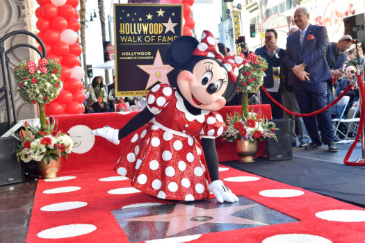 MINNIE GETS HOLLYWOOD WALK OF FAME STAR FOR 90TH ANNIVERSARY
