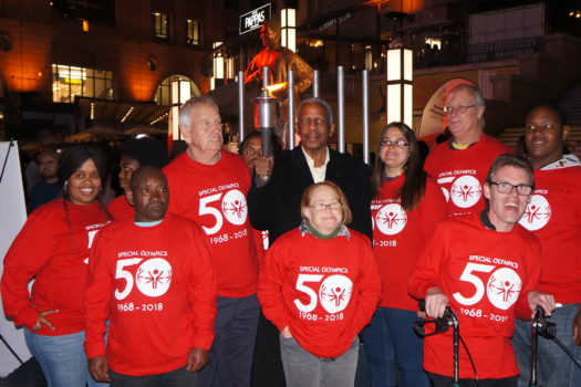 DR PHOSA LIGHTS UP THE NELSON MANDELA SQUARE IN SPECIAL OLYMPICS CELEBRATION