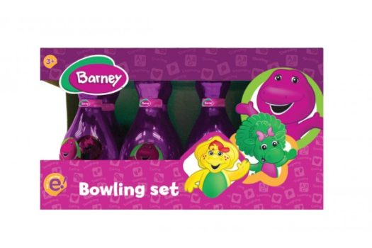 THE SUPER PINK BARNEY BOWLING SET A MUST FOR ALL KIDS