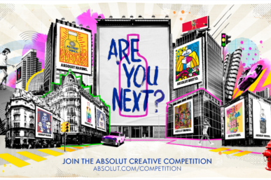 ABSOLUT SEARCHES FOR THE NEXT GLOBAL ARTISTIC COLLABORATOR