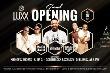 LUXX NIGHTCLUB – NEW PREMIUM CLUB TO OPEN IN EKURHULENI