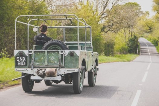 ORIGINAL LAUNCH LANDROVER FROM THE 60'S RETURNS TO THE ROAD