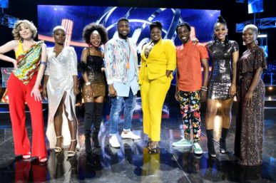 OVER THE TOP TO SECURE A PLACE IN IDOLS TOP 7 LAST NIGHT