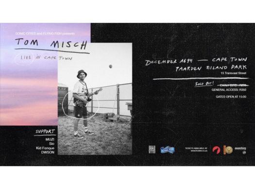 SONIC CITIES PRESENTS UK ARTIST TOM MISCH LIVE IN CAPE TOWN