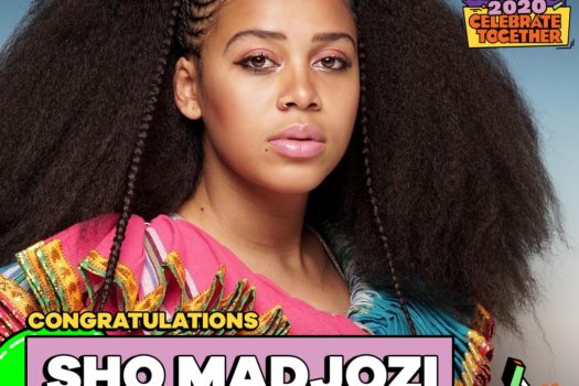 SHO MADJOZI SCOOPS THE NICKELODEON'S KIDS CHOICE AWARDS 2020