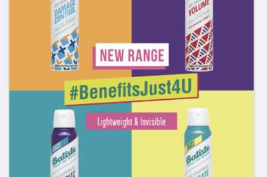 DRY SHAMPOO BATISTE RANGE  NOW TAILORED FOR YOUR INDIVIDUAL CROWN
