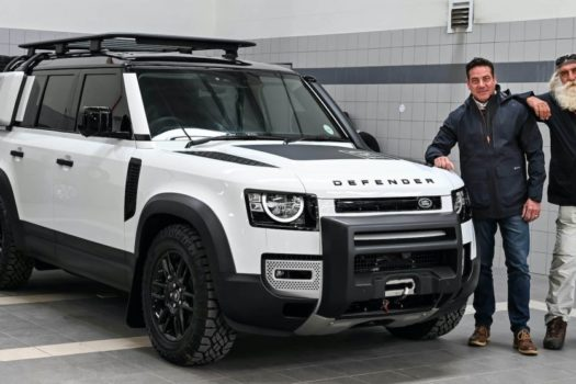 KINGSLEY HOLGATE FOUNDATION REUNITED WITH LAND ROVER DEFENDER