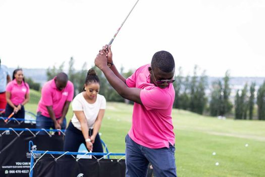 TEEING OFF AT PINK GOLF CHALLENGE TO SAVE LIVES