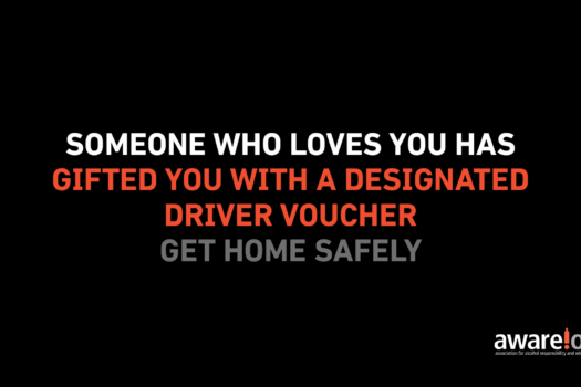 LIFESAVING DESIGNATED DRIVER VOUCHERS GIFTED OVER FESTIVE