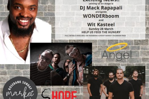 ARTISTS JOIN FORCES TO FEED THE HUNGRY AT ROSEBANK SUNDAY MARKET