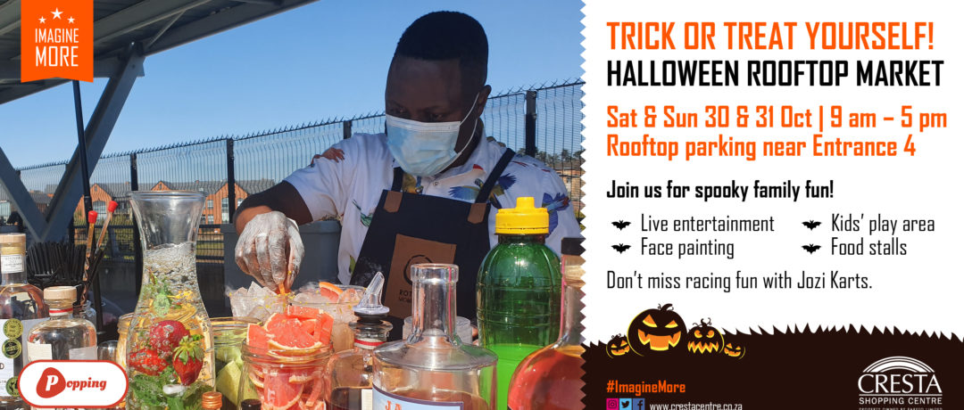 TRICK OR TRICK THIS HALLOWEEN AT CRESTA'S ROOFTOP MARKET