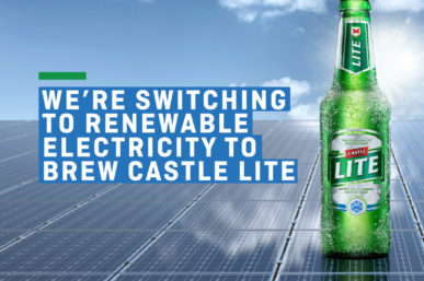 CASTLE LITE TO BREW IT'S BEER WITH RENEWABLE ELECTRICITY